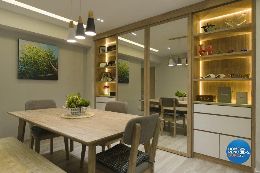 Modern, Scandinavian, Tropical Design - Dining Room - HDB Executive Apartment - Design by Cozy Ideas Interior Design Pte Ltd