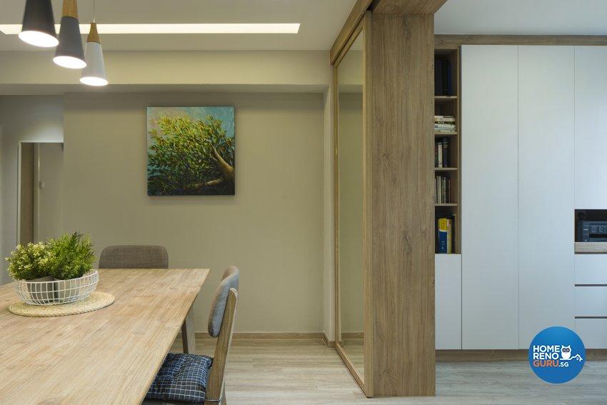 Modern, Scandinavian, Tropical Design - Study Room - HDB Executive Apartment - Design by Cozy Ideas Interior Design Pte Ltd