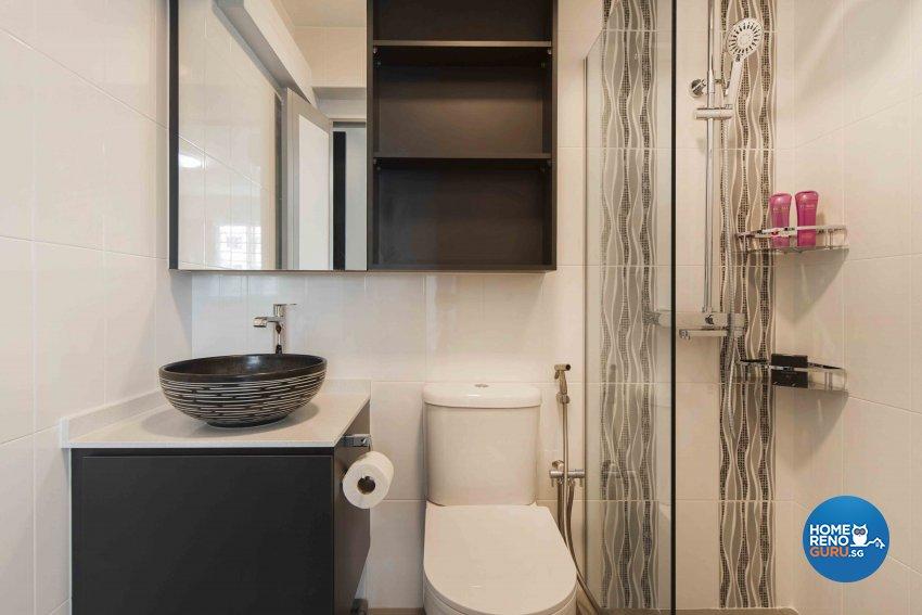 Minimalist, Modern Design - Bathroom - HDB 4 Room - Design by Cozy Ideas Interior Design Pte Ltd