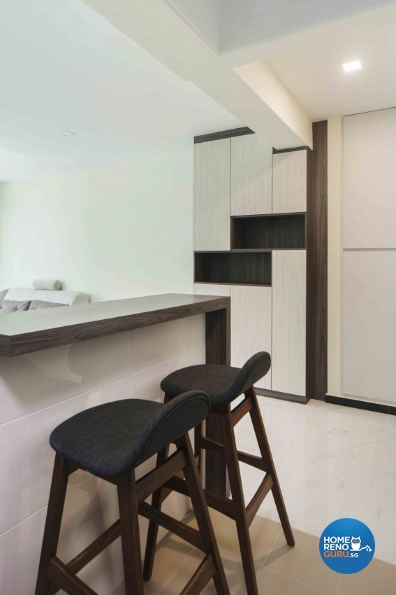 Minimalist, Modern Design - Kitchen - HDB 4 Room - Design by Cozy Ideas Interior Design Pte Ltd