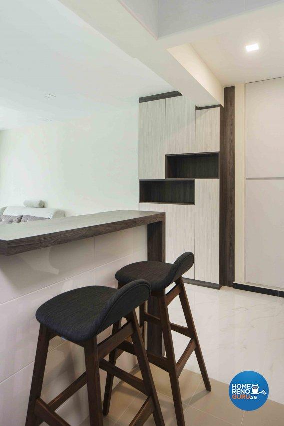 Minimalist, Modern Design - Kitchen - HDB 4 Room - Design by Cozy Ideas Interior Design Pte Ltd