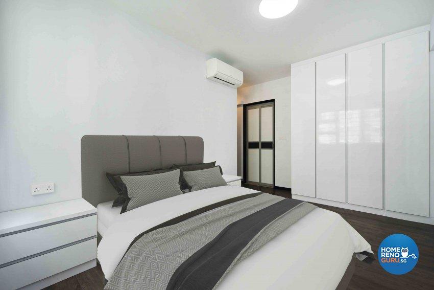 Minimalist, Modern Design - Bedroom - HDB 4 Room - Design by Cozy Ideas Interior Design Pte Ltd