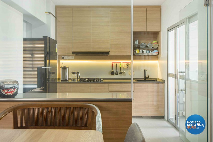 Scandinavian Design - Kitchen - HDB 4 Room - Design by Cozy Ideas Interior Design Pte Ltd