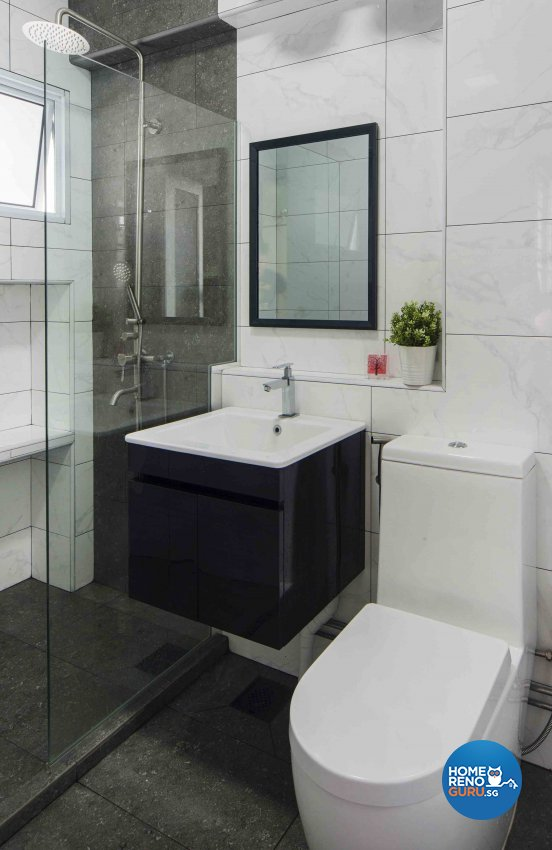 Contemporary, Scandinavian Design - Bathroom - HDB Executive Apartment - Design by Cozy Ideas Interior Design Pte Ltd