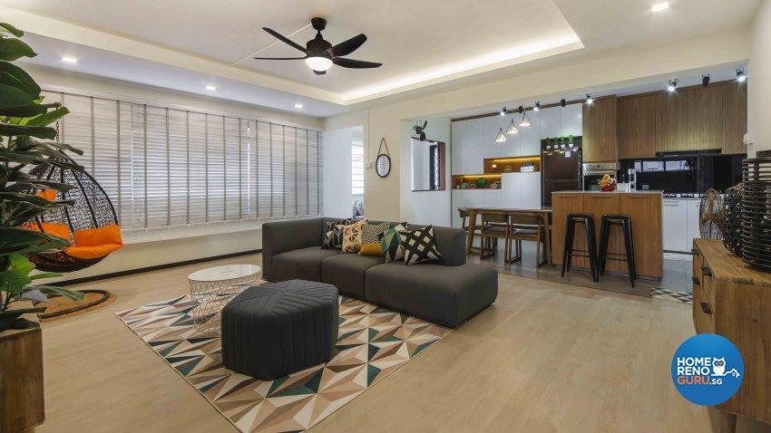 Contemporary, Scandinavian Design - Living Room - HDB Executive Apartment - Design by Cozy Ideas Interior Design Pte Ltd