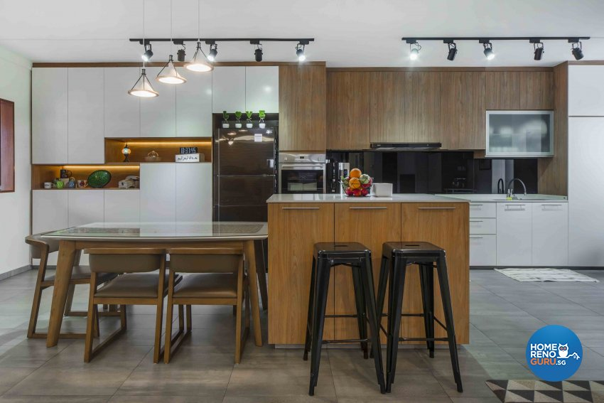 Contemporary, Scandinavian Design - Kitchen - HDB Executive Apartment - Design by Cozy Ideas Interior Design Pte Ltd