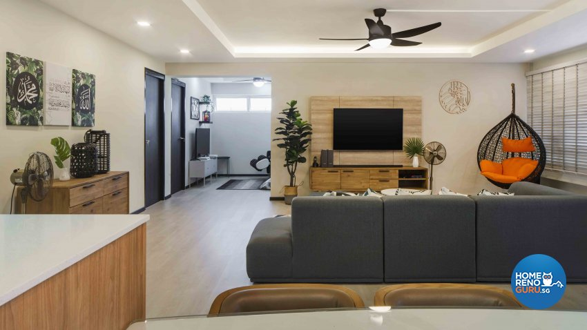 Contemporary, Scandinavian Design - Living Room - HDB Executive Apartment - Design by Cozy Ideas Interior Design Pte Ltd