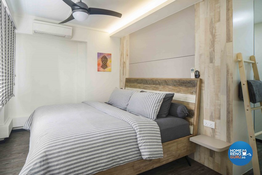 Contemporary, Scandinavian Design - Bedroom - HDB Executive Apartment - Design by Cozy Ideas Interior Design Pte Ltd