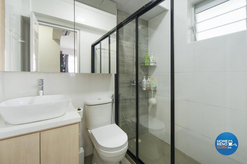 Scandinavian Design - Bathroom - HDB 4 Room - Design by Cozy Ideas Interior Design Pte Ltd