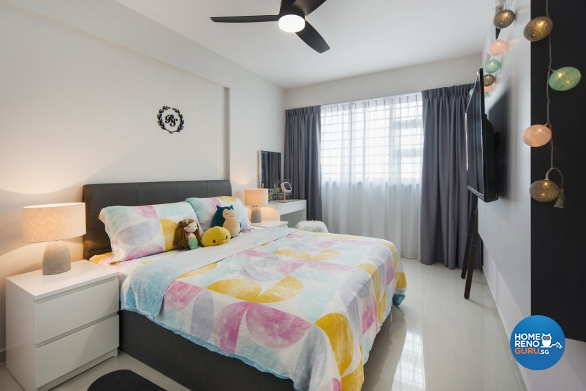 Scandinavian Design - Bedroom - HDB 4 Room - Design by Cozy Ideas Interior Design Pte Ltd