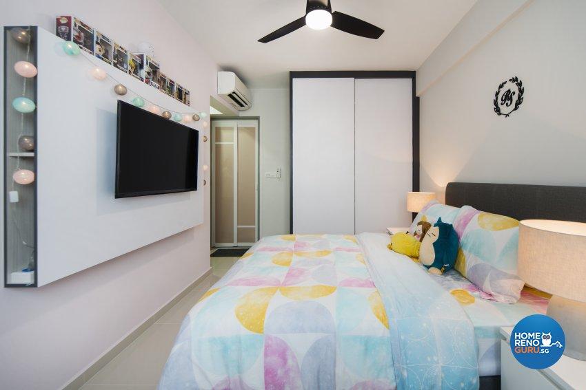 Scandinavian Design - Bedroom - HDB 4 Room - Design by Cozy Ideas Interior Design Pte Ltd