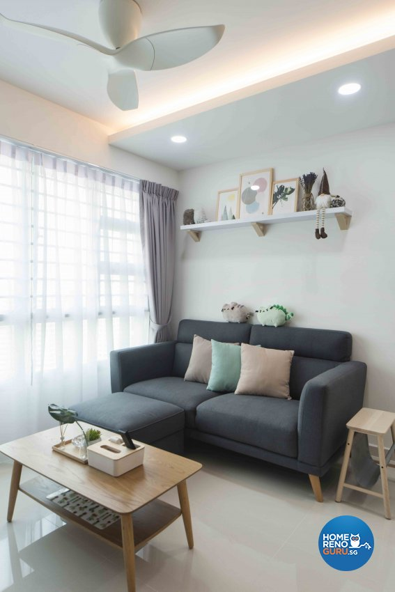 Scandinavian Design - Living Room - HDB 4 Room - Design by Cozy Ideas Interior Design Pte Ltd