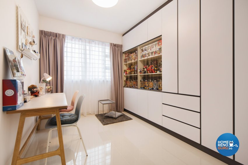 Scandinavian Design - Study Room - HDB 4 Room - Design by Cozy Ideas Interior Design Pte Ltd