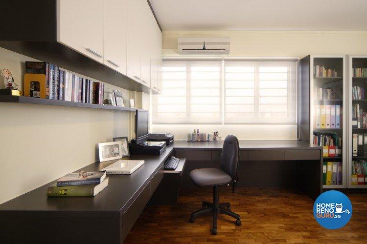 Contemporary, Modern Design - Study Room - HDB 5 Room - Design by Cre8 ID Pte Ltd