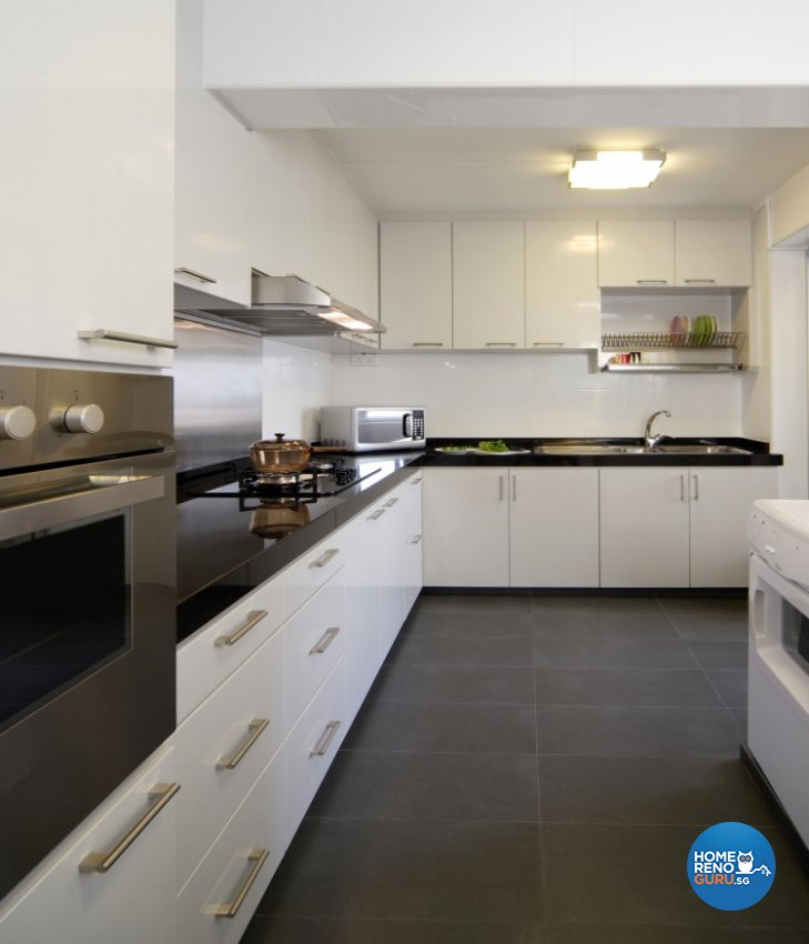 Contemporary, Modern Design - Kitchen - HDB 5 Room - Design by Cre8 ID Pte Ltd