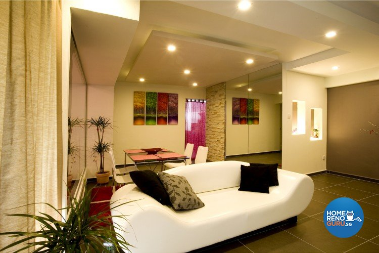 Contemporary, Modern Design - Living Room - HDB 5 Room - Design by Cre8 ID Pte Ltd