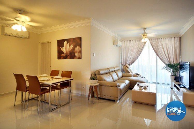 Classical, Resort Design - Living Room - Condominium - Design by Cre8 ID Pte Ltd