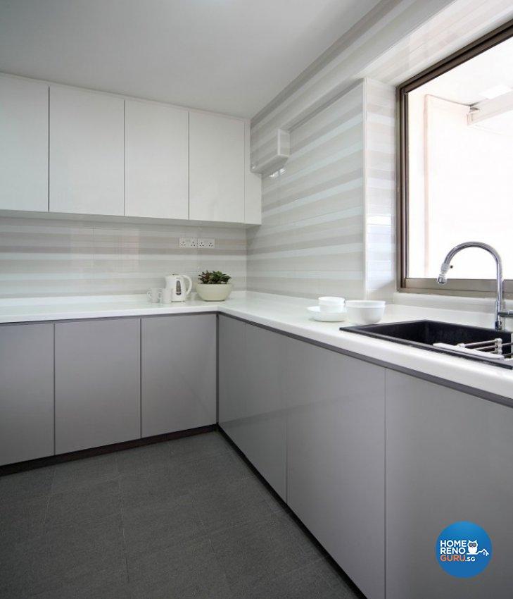 Classical, Resort Design - Kitchen - Condominium - Design by Cre8 ID Pte Ltd