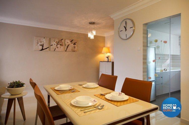 Classical, Resort Design - Dining Room - Condominium - Design by Cre8 ID Pte Ltd