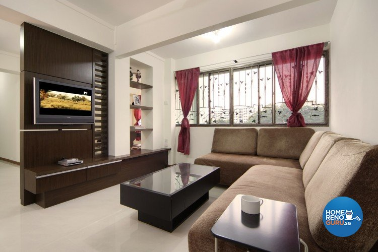 Country, Resort Design - Living Room - HDB 5 Room - Design by Cre8 ID Pte Ltd