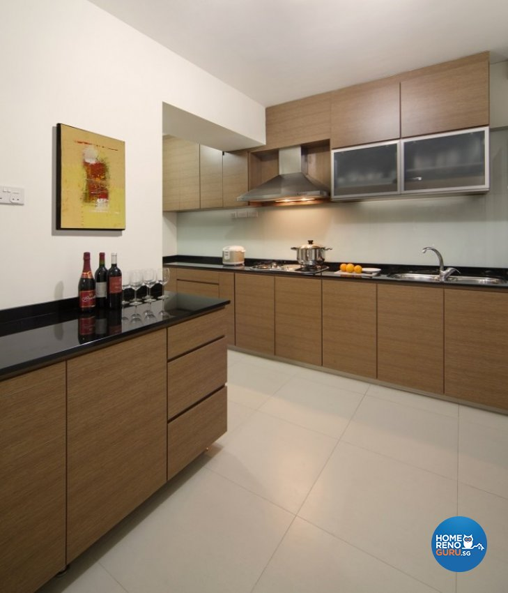 Country, Resort Design - Kitchen - HDB 5 Room - Design by Cre8 ID Pte Ltd