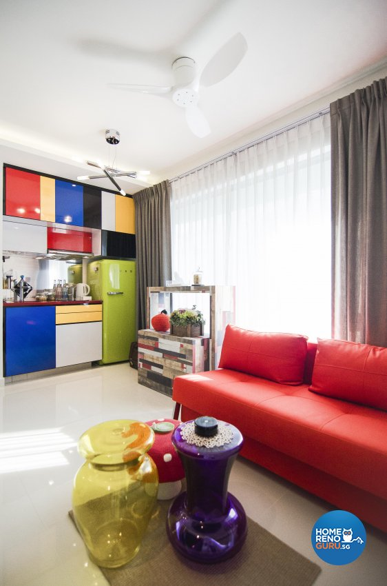 Eclectic, Retro Design - Living Room - Condominium - Design by Create Pte Ltd