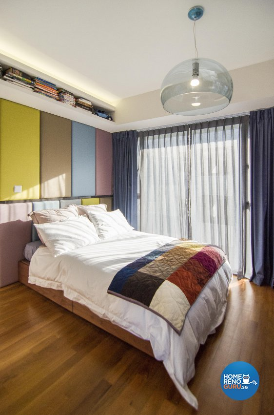Eclectic, Retro Design - Bedroom - Condominium - Design by Create Pte Ltd