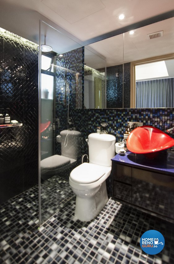 Eclectic, Retro Design - Bathroom - Condominium - Design by Create Pte Ltd