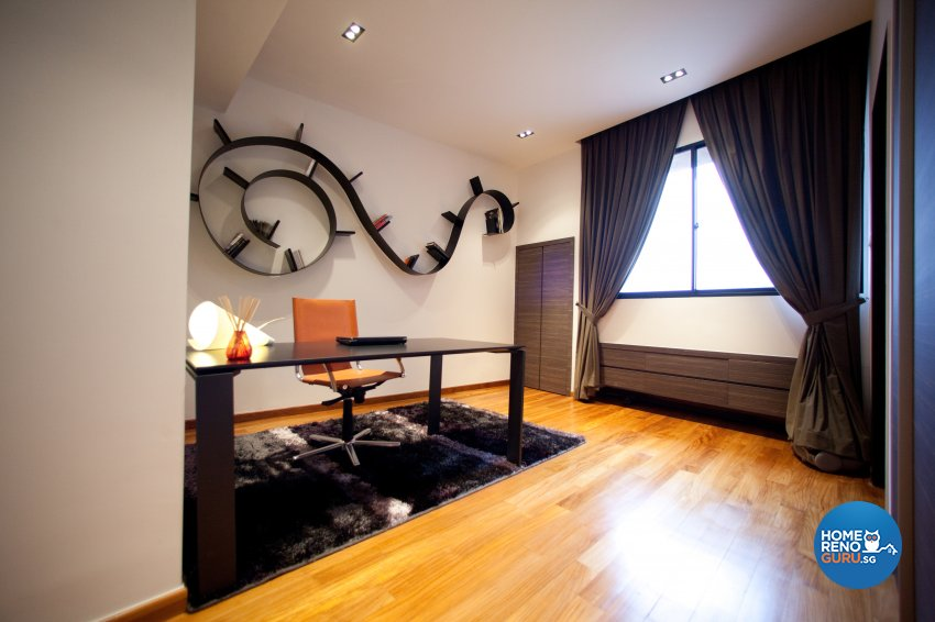 Contemporary Design - Study Room - Landed House - Design by Create Pte Ltd