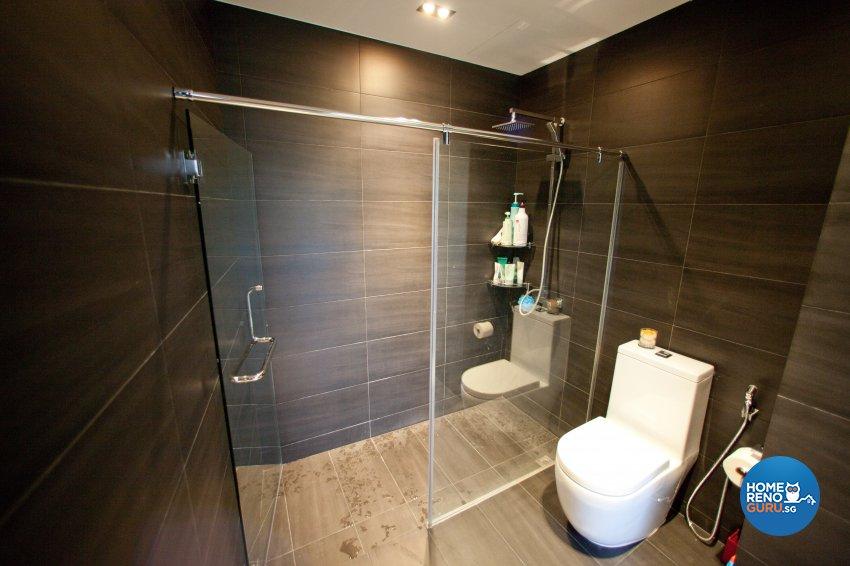 Contemporary Design - Bathroom - Landed House - Design by Create Pte Ltd