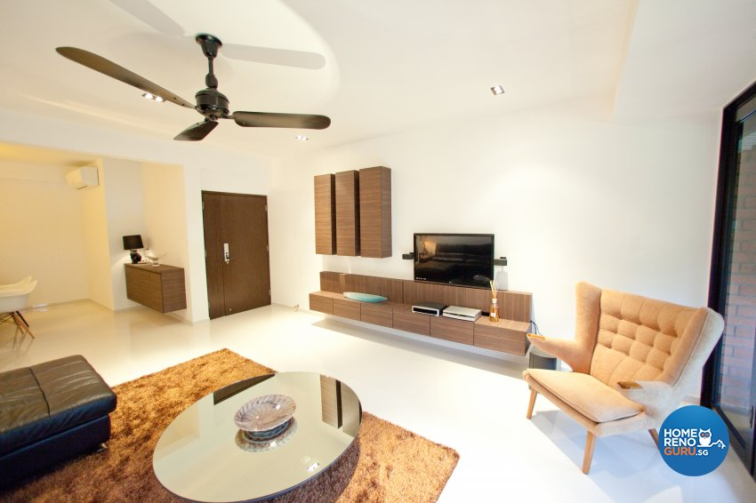 Contemporary Design - Living Room - Landed House - Design by Create Pte Ltd
