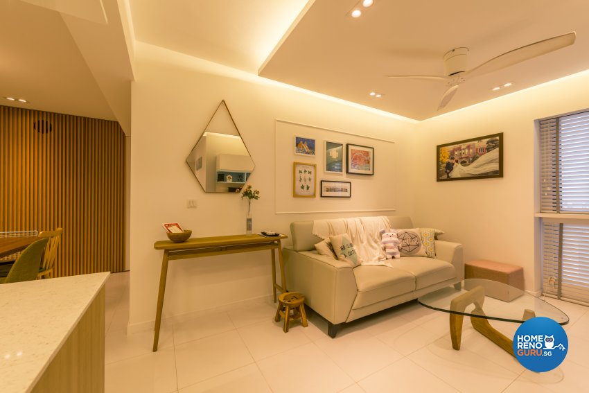 Minimalist Design - Living Room - HDB 5 Room - Design by Create Pte Ltd