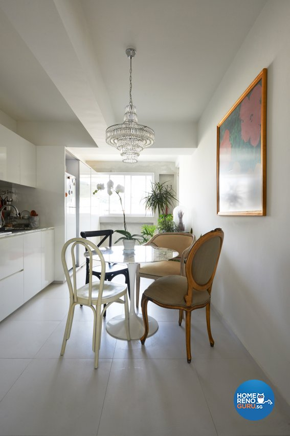 Vintage Design - Dining Room - HDB 5 Room - Design by Create Pte Ltd
