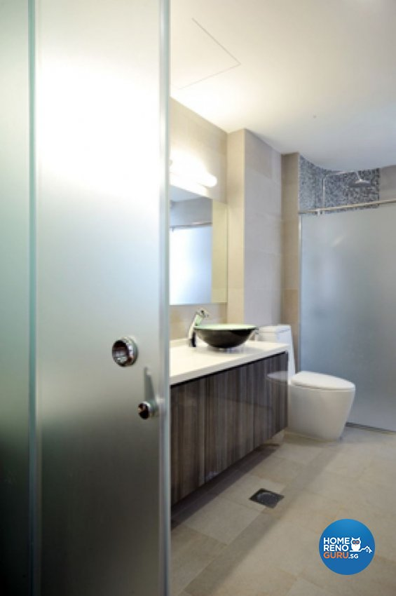 Contemporary, Modern Design - Bathroom - Condominium - Design by Crescendo Interior & Lifestyle Pte Ltd