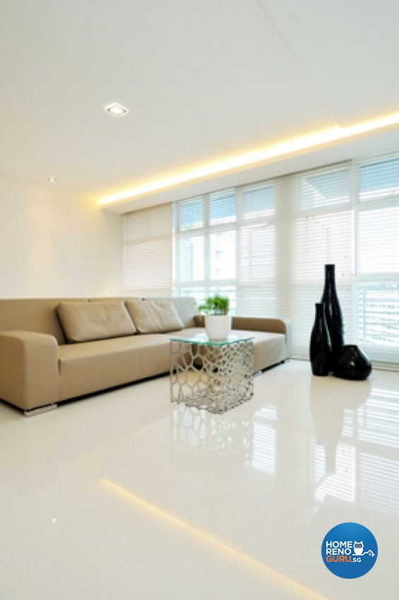 Contemporary, Minimalist, Modern Design - Living Room - HDB 5 Room - Design by Crescendo Interior & Lifestyle Pte Ltd