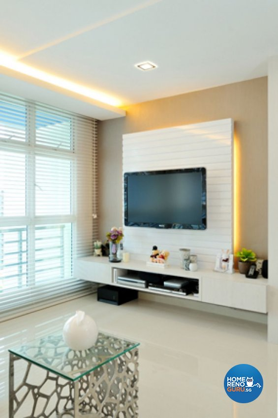 Contemporary, Minimalist, Modern Design - Living Room - HDB 5 Room - Design by Crescendo Interior & Lifestyle Pte Ltd