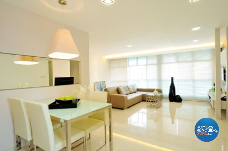 Contemporary, Minimalist, Modern Design - Dining Room - HDB 5 Room - Design by Crescendo Interior & Lifestyle Pte Ltd