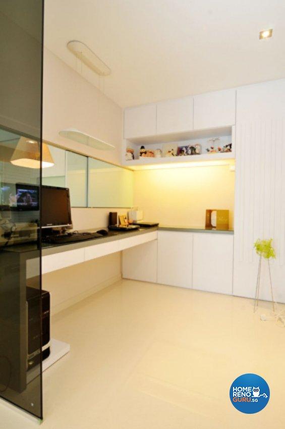 Contemporary, Minimalist, Modern Design - Study Room - HDB 5 Room - Design by Crescendo Interior & Lifestyle Pte Ltd