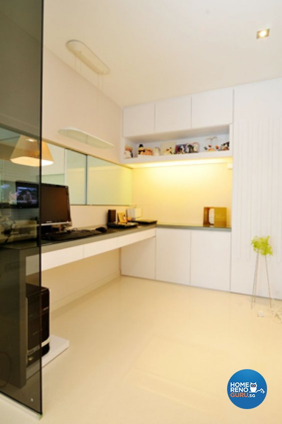 Contemporary, Minimalist, Modern Design - Study Room - HDB 5 Room - Design by Crescendo Interior & Lifestyle Pte Ltd