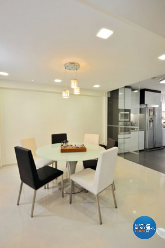 Contemporary, Modern Design - Dining Room - HDB Executive Apartment - Design by Crescendo Interior & Lifestyle Pte Ltd