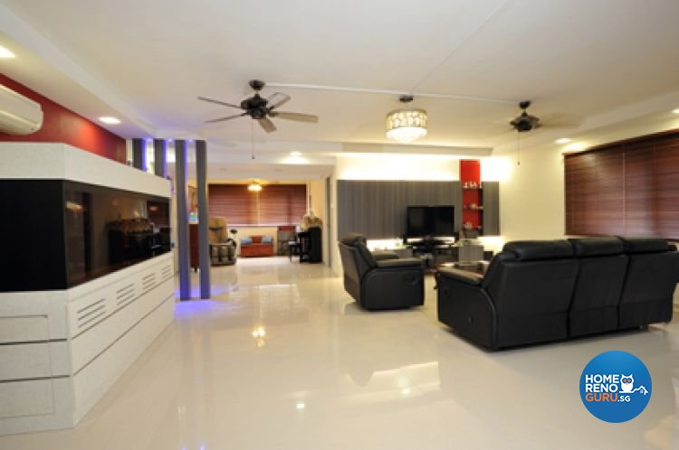 Contemporary, Modern Design - Living Room - HDB Executive Apartment - Design by Crescendo Interior & Lifestyle Pte Ltd