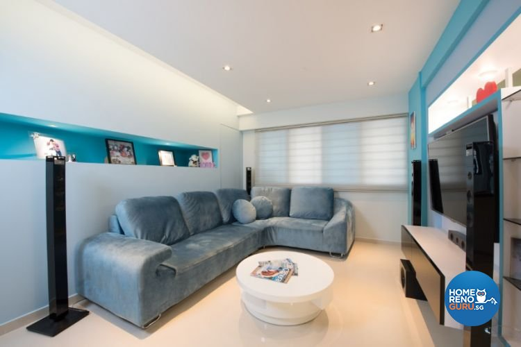 Contemporary, Modern, Scandinavian Design - Living Room - HDB 4 Room - Design by Crescendo Interior & Lifestyle Pte Ltd
