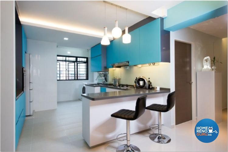Contemporary, Modern, Scandinavian Design - Kitchen - HDB 4 Room - Design by Crescendo Interior & Lifestyle Pte Ltd