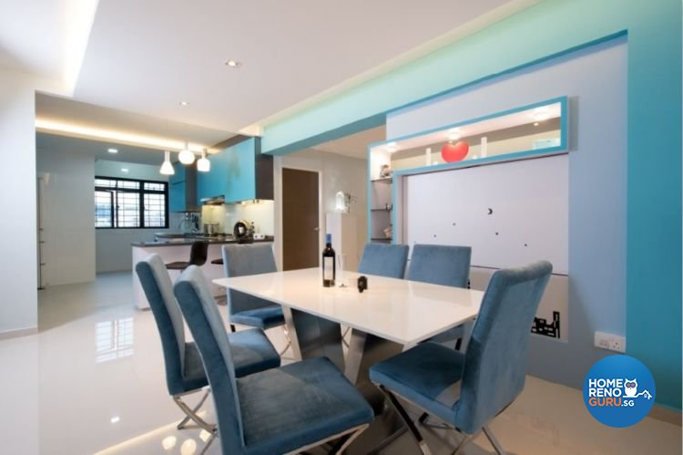 Contemporary, Modern, Scandinavian Design - Dining Room - HDB 4 Room - Design by Crescendo Interior & Lifestyle Pte Ltd