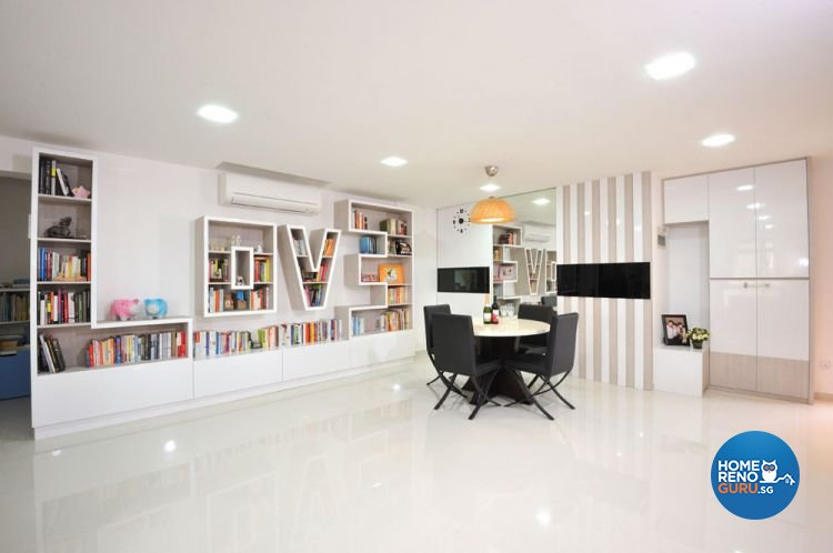 Contemporary, Minimalist Design - Living Room - HDB 4 Room - Design by Crescendo Interior & Lifestyle Pte Ltd