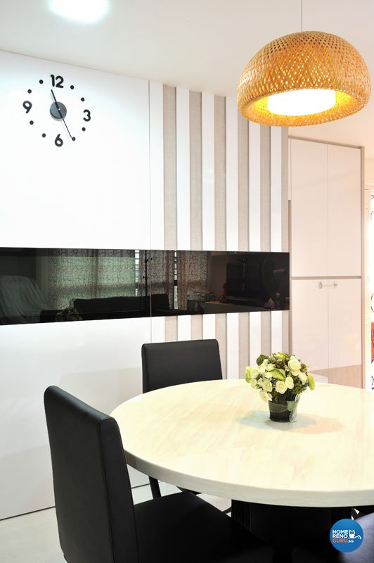 Contemporary, Minimalist Design - Dining Room - HDB 4 Room - Design by Crescendo Interior & Lifestyle Pte Ltd