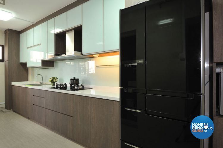 Contemporary, Minimalist Design - Kitchen - HDB 4 Room - Design by Crescendo Interior & Lifestyle Pte Ltd