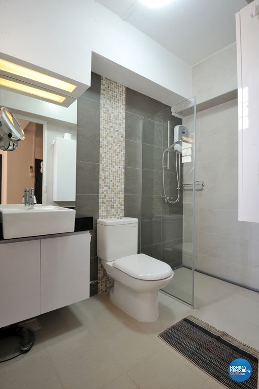 Contemporary, Minimalist Design - Bathroom - HDB 4 Room - Design by Crescendo Interior & Lifestyle Pte Ltd