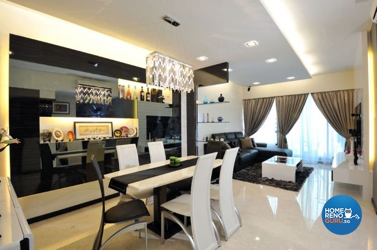 Contemporary, Modern Design - Dining Room - HDB 4 Room - Design by Crescendo Interior & Lifestyle Pte Ltd