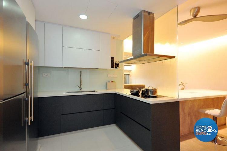 Contemporary, Modern Design - Kitchen - Condominium - Design by Crescendo Interior & Lifestyle Pte Ltd